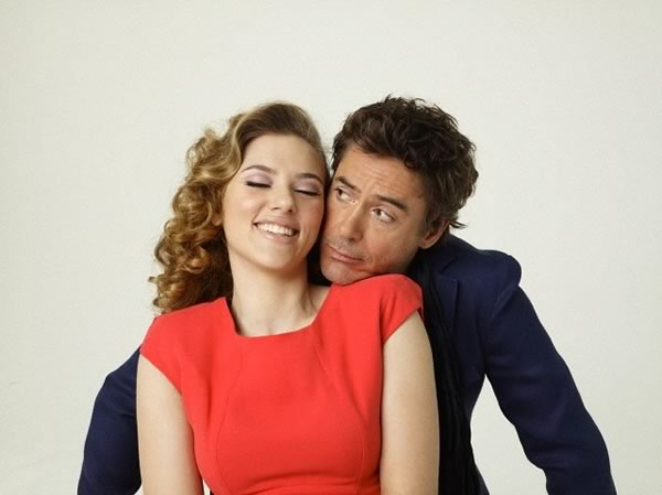 Robert Downey Jr and Scarlett Johansson