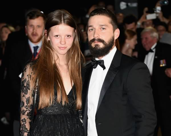 Shia Labeouf wife Mia Goth
