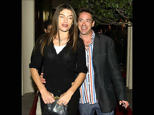 Robert Downey Jr and Deborah Falconer