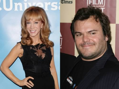Jack Black and Kathy Griffin